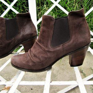 9,5 PAUL GREEN leather ankle boots booties shoes